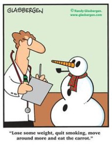 Color snowman and doctor